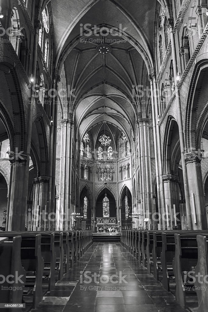 Inside of roman catholic Saint Catharine Church in Eindhoven,...