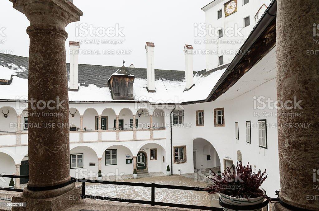 Inside of Seeschloss Ort Gmunden royalty-free stock photo