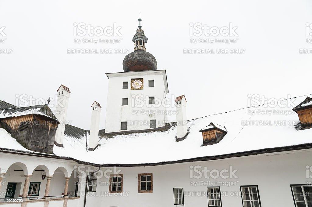 Inside of Seeschloss Ort Gmunden stock photo