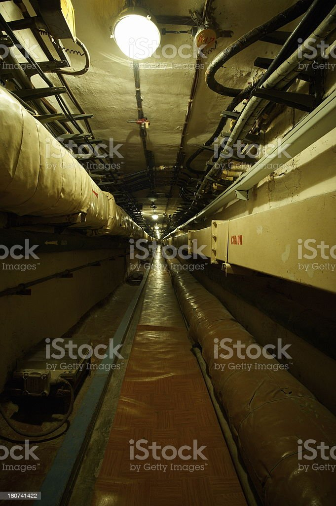 inside of soviet strategic rocket base royalty-free stock photo