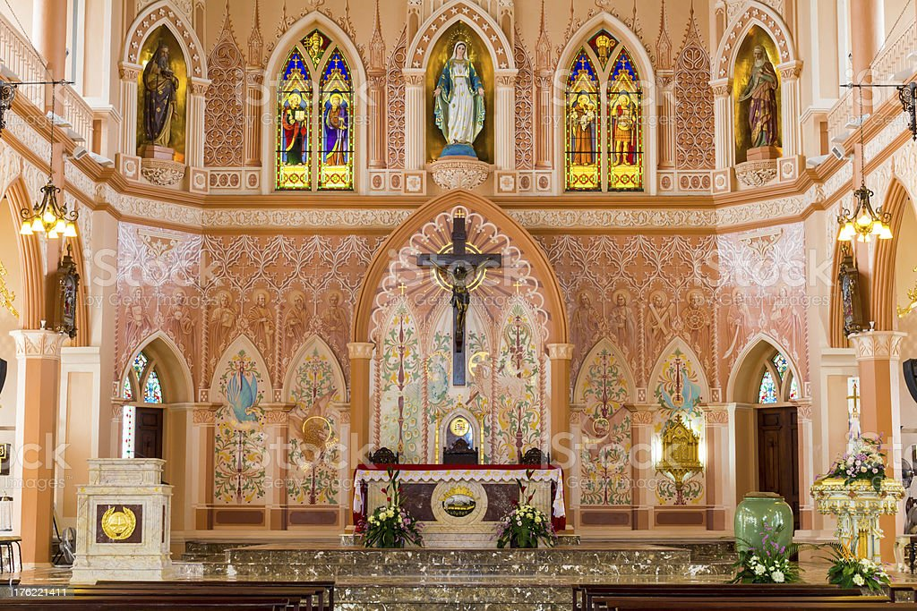 Inside of St Maria Church. royalty-free stock photo