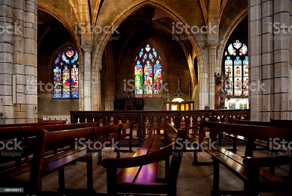 Inside of The Church of St. Bonaventure stock photo