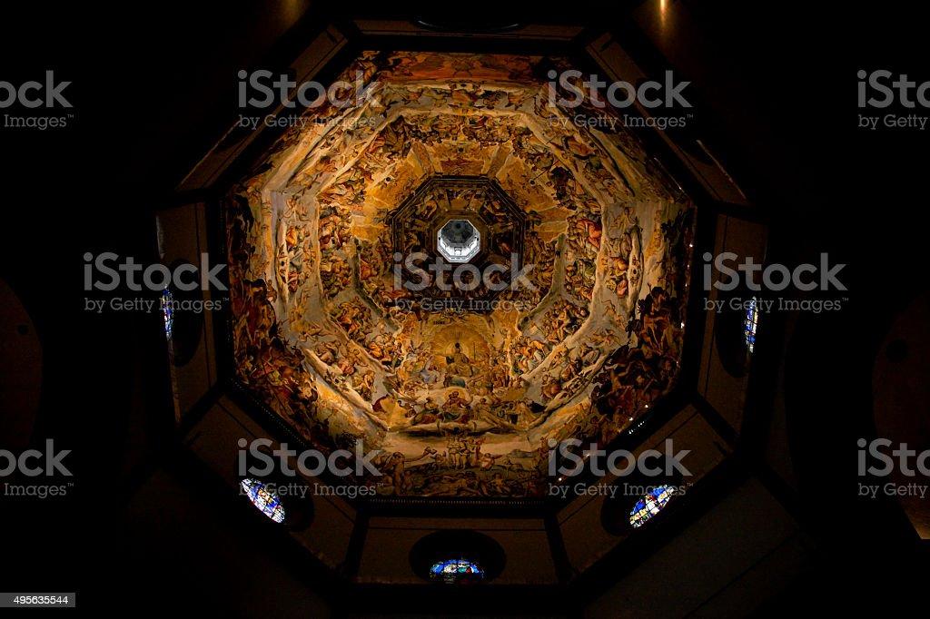 Inside of the Duomo, Santa Maria del Fiore, Florence stock photo