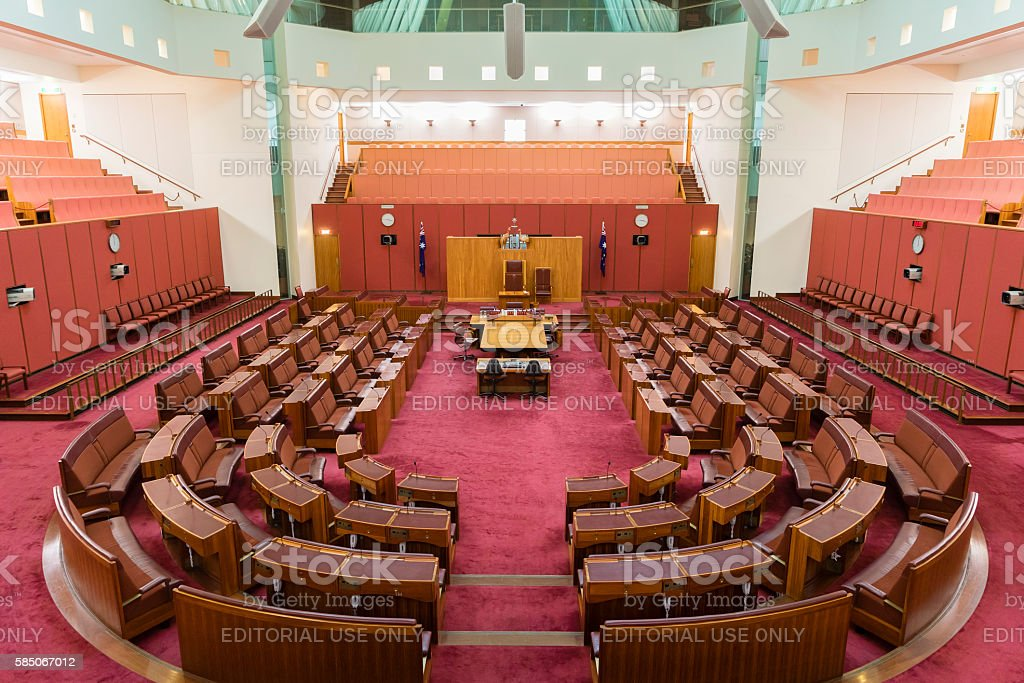 Inside of the House Representatives, Parliament stock photo