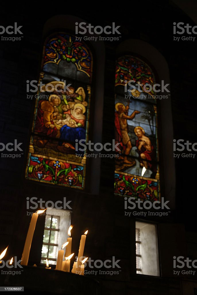 Inside of the Notre Dame Cathedral, Saigon, Vietnam royalty-free stock photo
