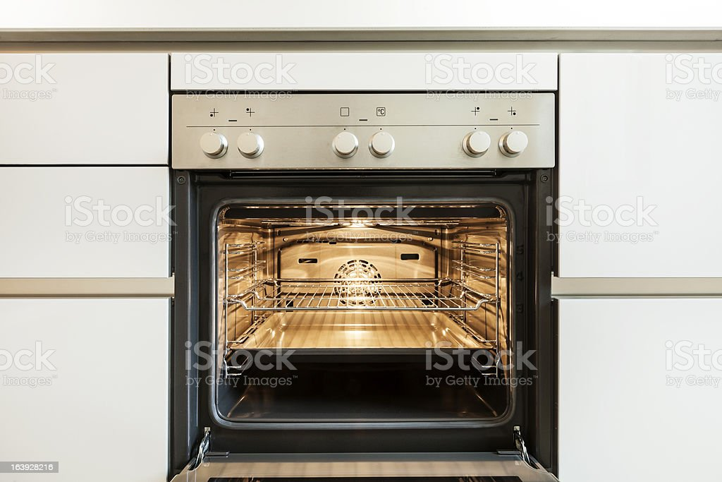 inside of the oven stock photo