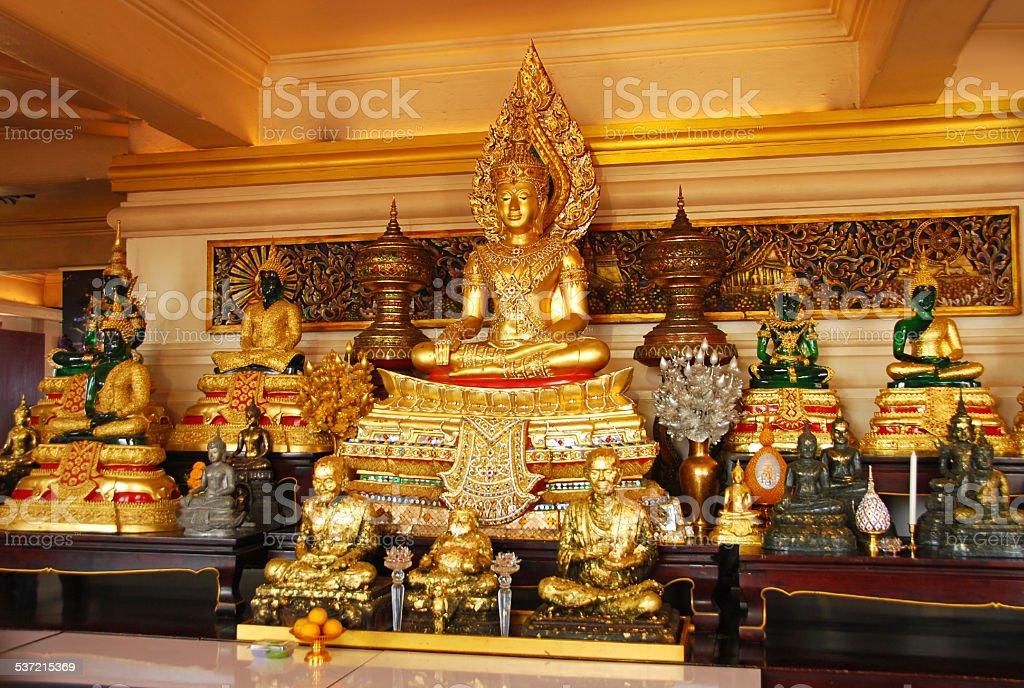 Inside of the Wat Saket temple in Bangkok stock photo