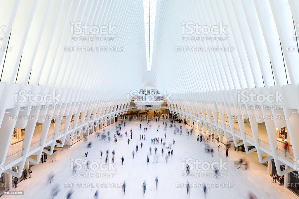 Inside of World Trade Center stock photo
