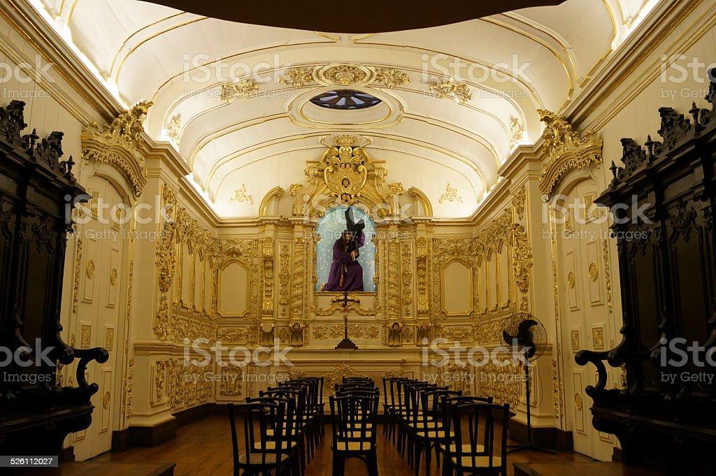 Dentro de la antigua catedral, Rio de Janeiro, Brasil foto de stock libre de derechos