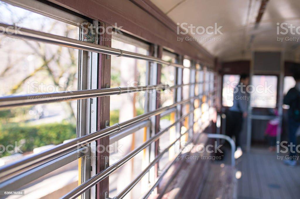 inside old train stock photo