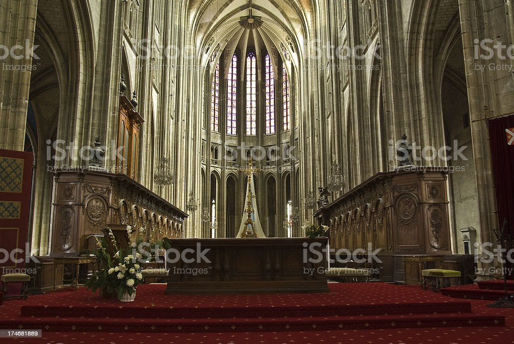 Inside Orleans Cathedral royalty-free stock photo