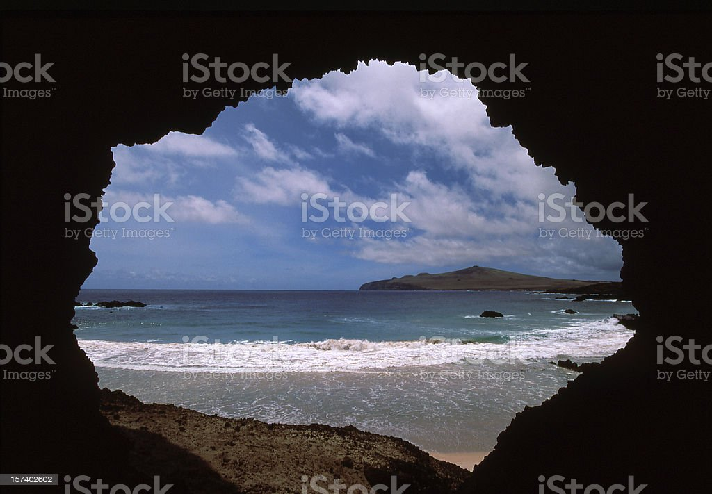 inside out, Easter Island royalty-free stock photo