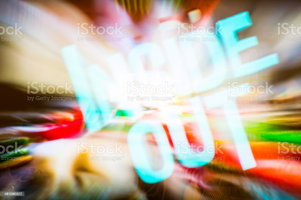 Inside Out Rad Abstract Neon Artistic Background Style Roschetzky stock photo