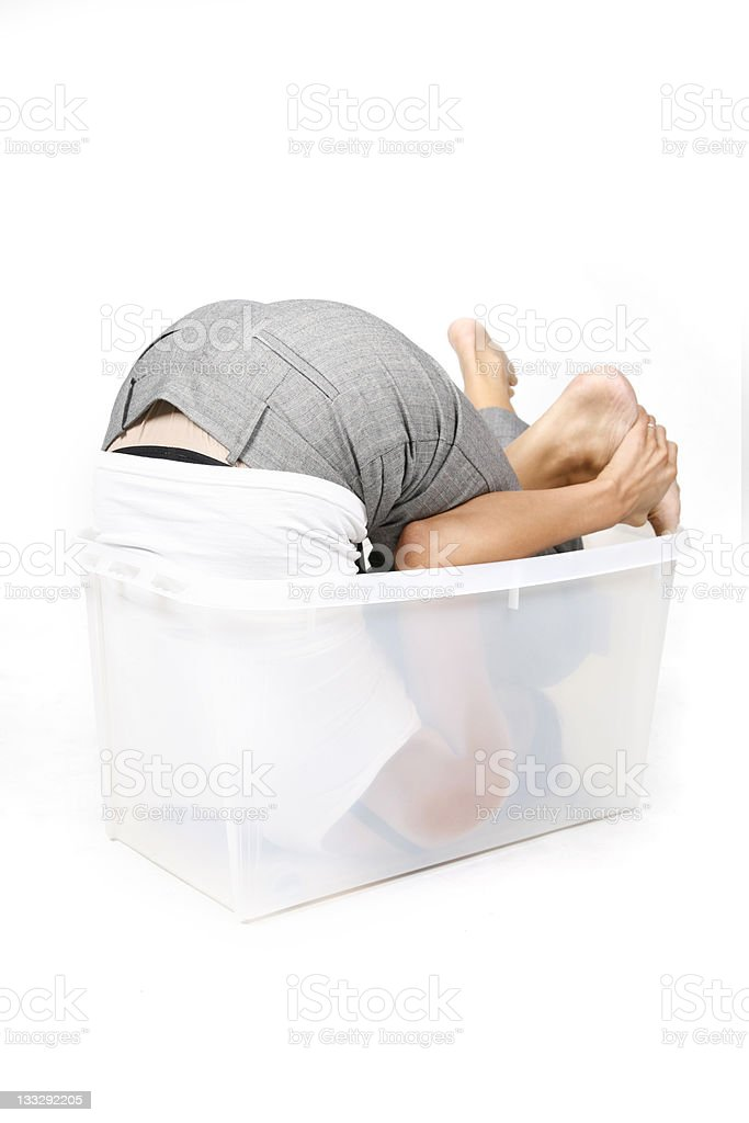 Inside / Outside the box 3 royalty-free stock photo