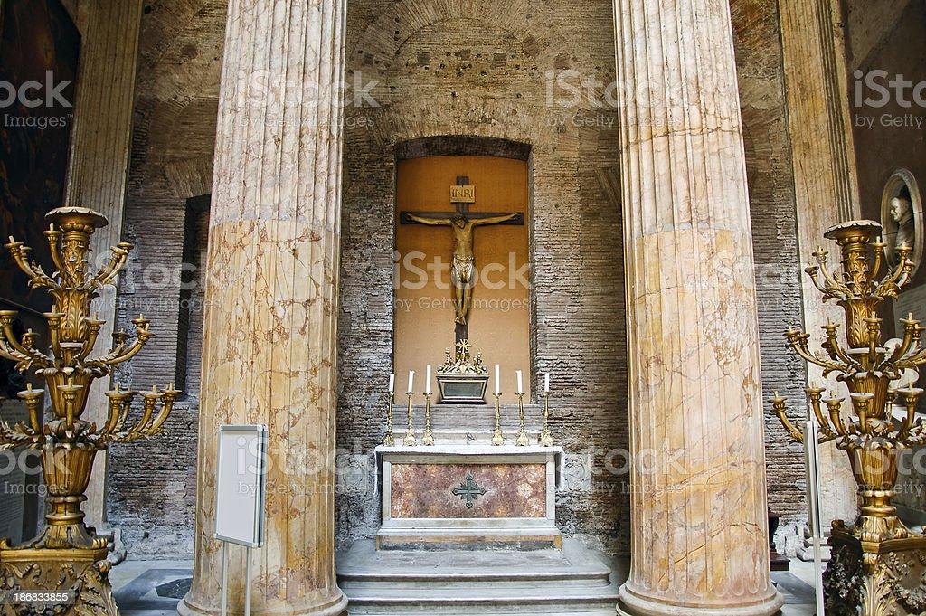 Inside Pantheon royalty-free stock photo