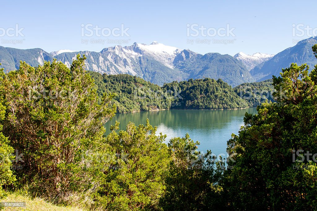 Inside Passage Of The Chilean Fjords stock photo