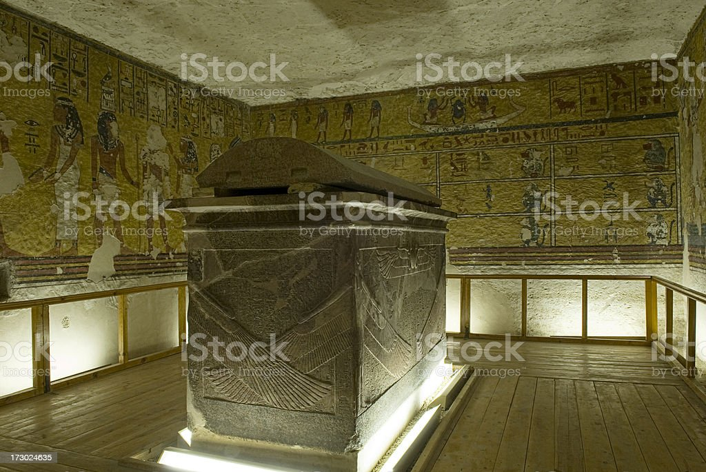Inside Pharaoh' s Tomb. royalty-free stock photo