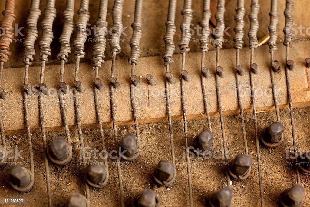 Inside piano royalty-free stock photo