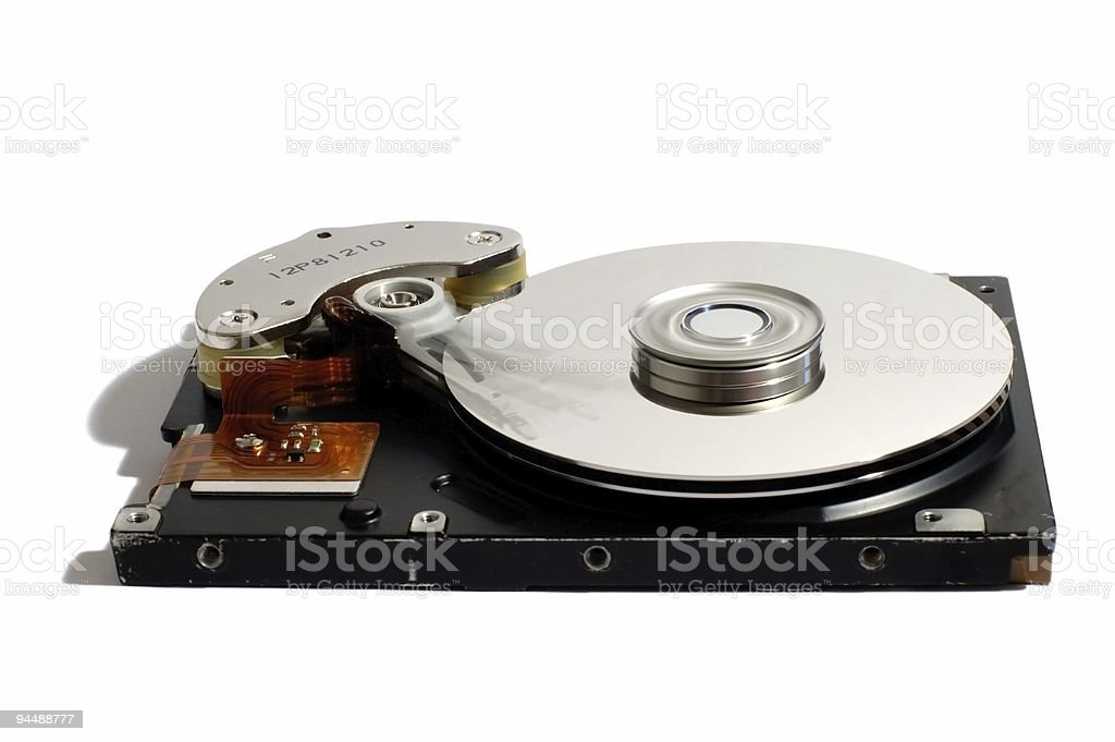 HDD inside royalty-free stock photo