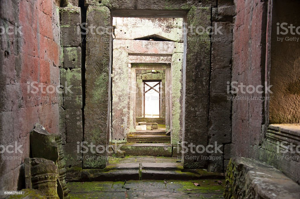 Inside Preah Khan temple, Cambodia stock photo