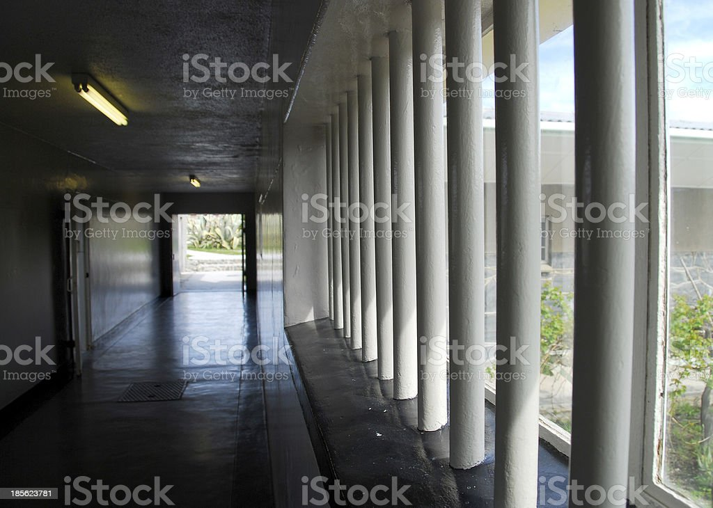 inside robben island prison royalty-free stock photo