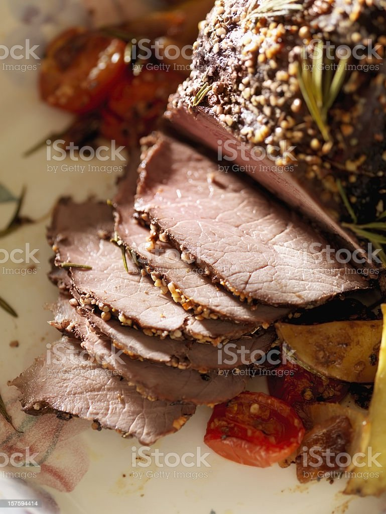Inside Round Beef Roast royalty-free stock photo