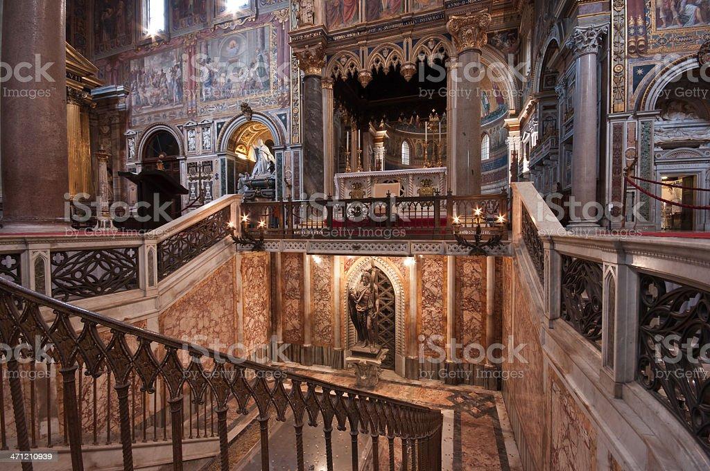 Inside San Giovanni in Laterano stock photo