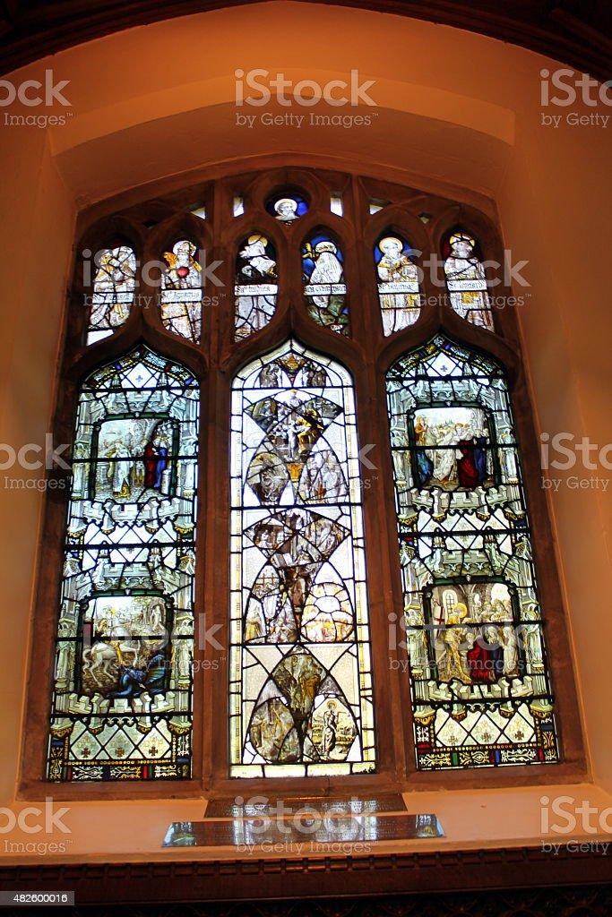 Inside St Mary Magdalene, Sandringham stock photo