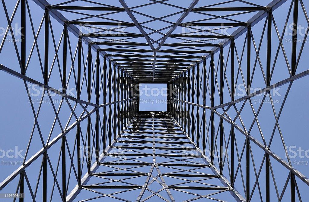 steel tower Bauarbeiten im Lizenzfreies stock-foto