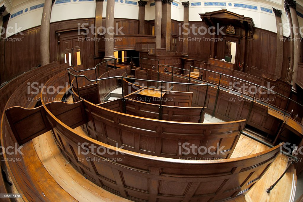Inside St.George's Hall in Liverpool royalty-free stock photo