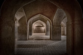 Inside the adobe castle of Rayen in Kerman province, Iran