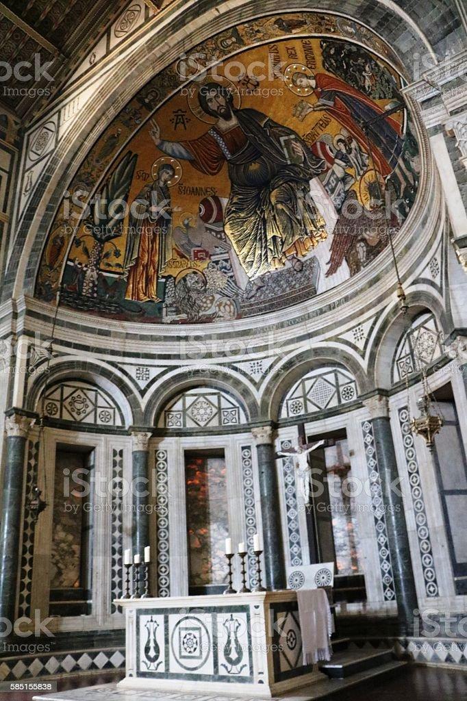 Inside the Basilica of San Miniato al Monte, Florence Italy stock photo