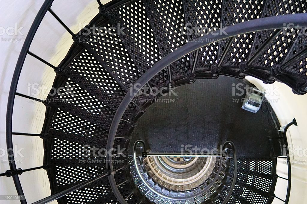Inside the Bodie Lighthouse stock photo