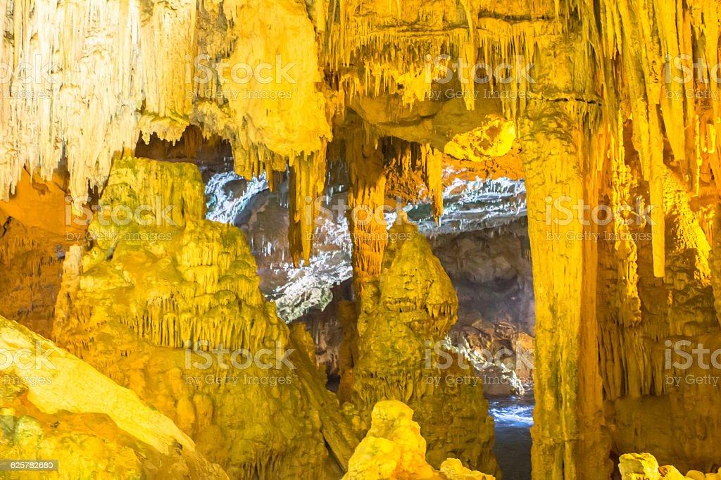 Inside the Cave of Neptune (Grotte di Nettuno), Sardinia stock photo