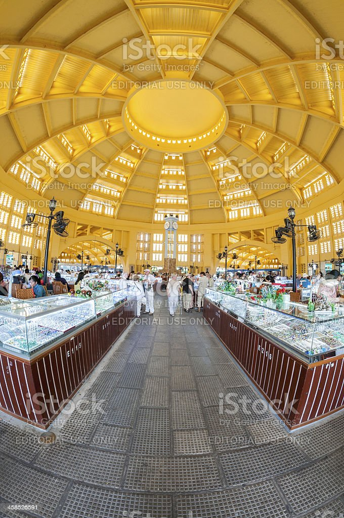 Inside The Central Market In Phnom Penh Cambodia royalty-free stock photo