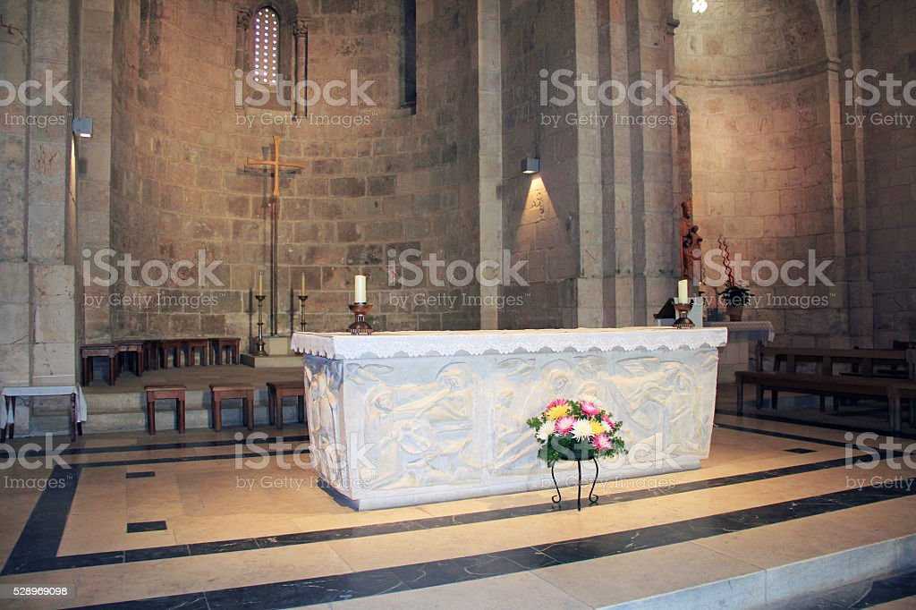 Inside the Church of St. Anne in Jerusalem Israel stock photo
