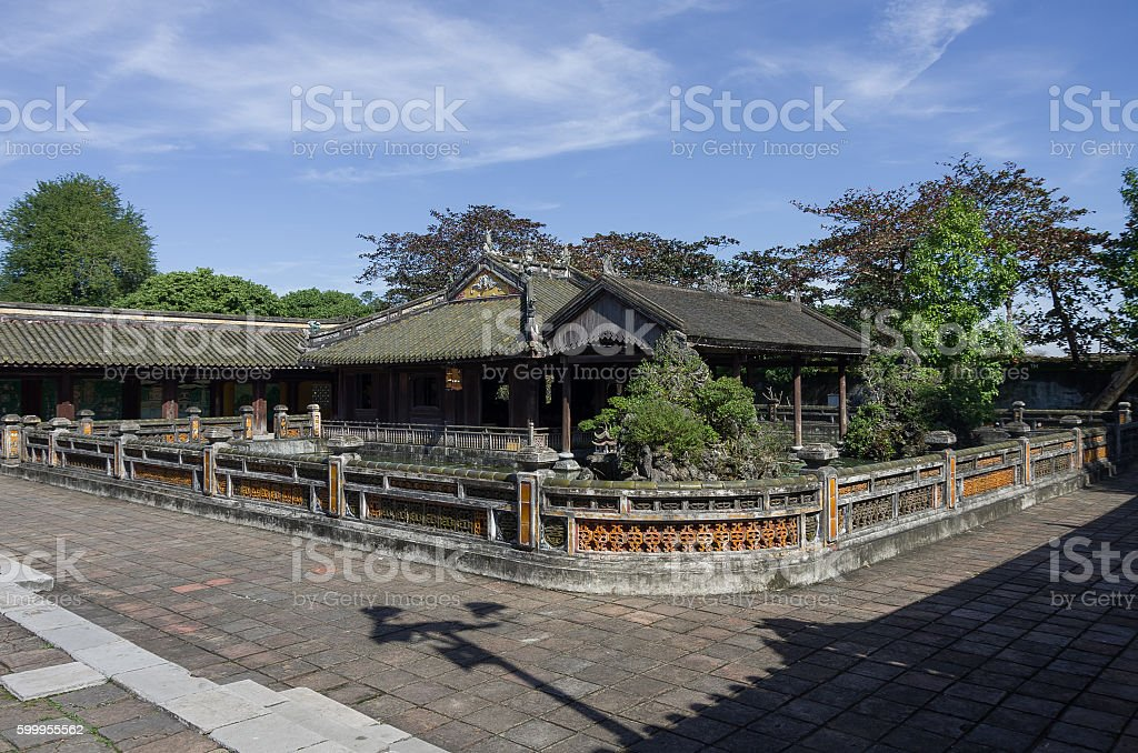 Inside the citadel. Imperial Forbidden City. Hue, Vietnam. stock photo