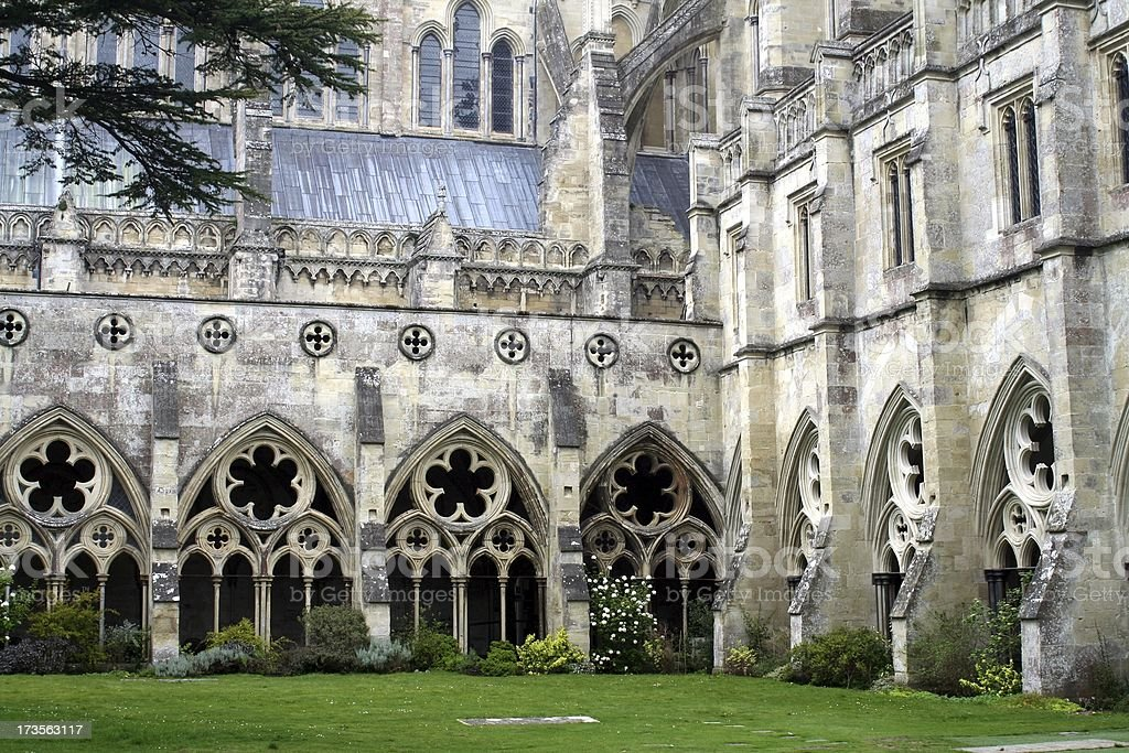 Inside the cloister royalty-free stock photo