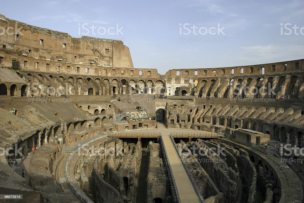 Inside the Coliseum royalty-free stock photo