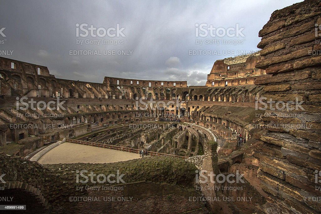 Inside The Coloseum royalty-free stock photo