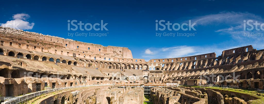 Inside the Colosseum, Rome stock photo