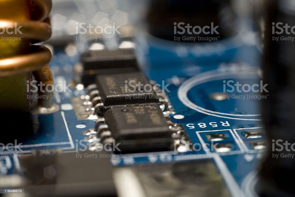 Inside the Computer. royalty-free stock photo