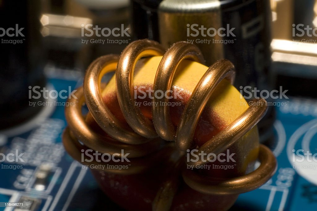 Inside the Computer. stock photo