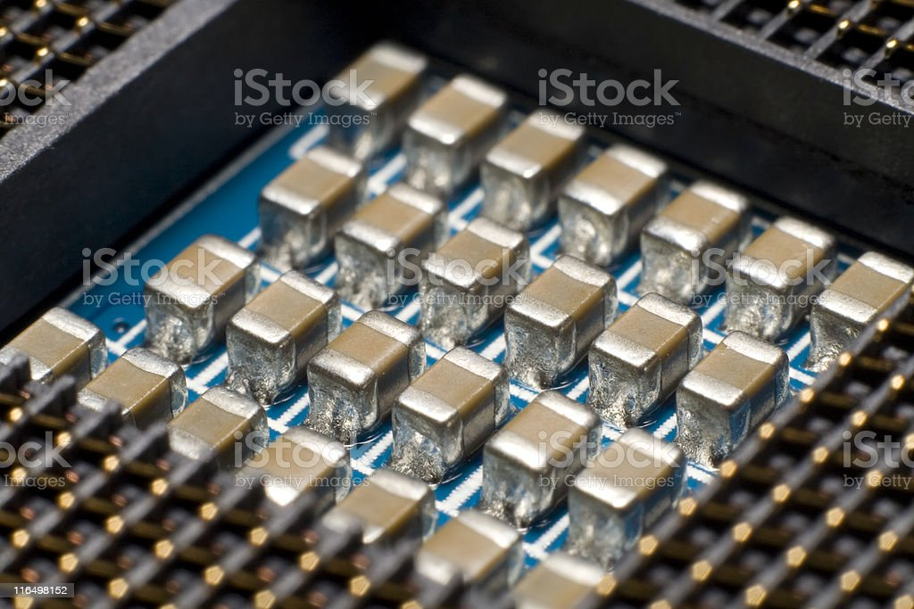 Inside the Computer stock photo