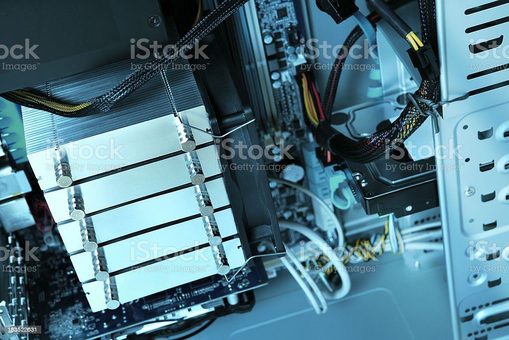 Inside the computer royalty-free stock photo