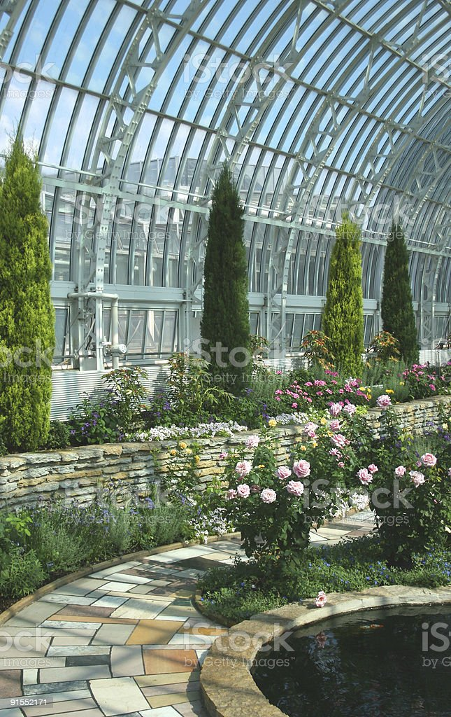 Inside the Conservatory royalty-free stock photo