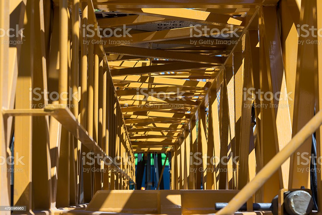 Inside the crane royalty-free stock photo