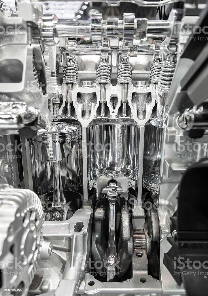 inside the engine stock photo