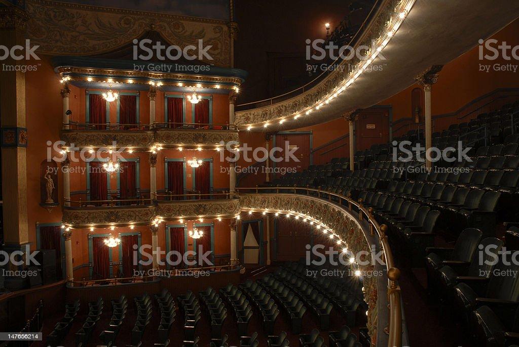 Inside the Grand Opera House royalty-free stock photo