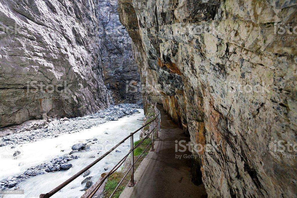 Inside The Grindelwald Glacier Gorge, Swiss Alps stock photo